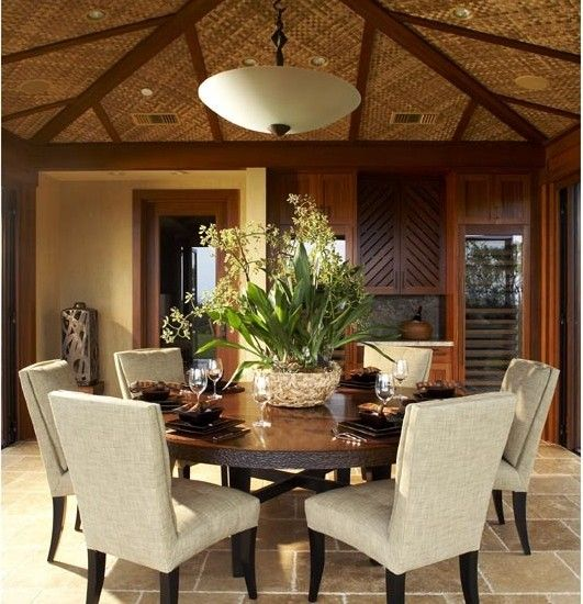 If You Can T Live In The Tropics Could Still Decorate Like Do Tropical Dining Room By Willman Interiors Gina Asid