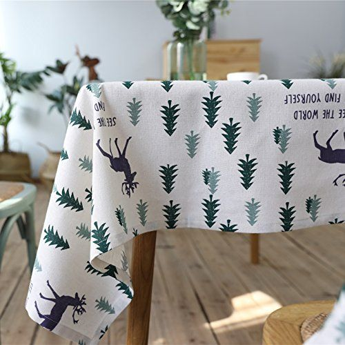 Aimeer Cotton Linen Tablecloths For Rectangle Tables Washable Dinner Picnic Table  Cloth Home Decorative Table Cover