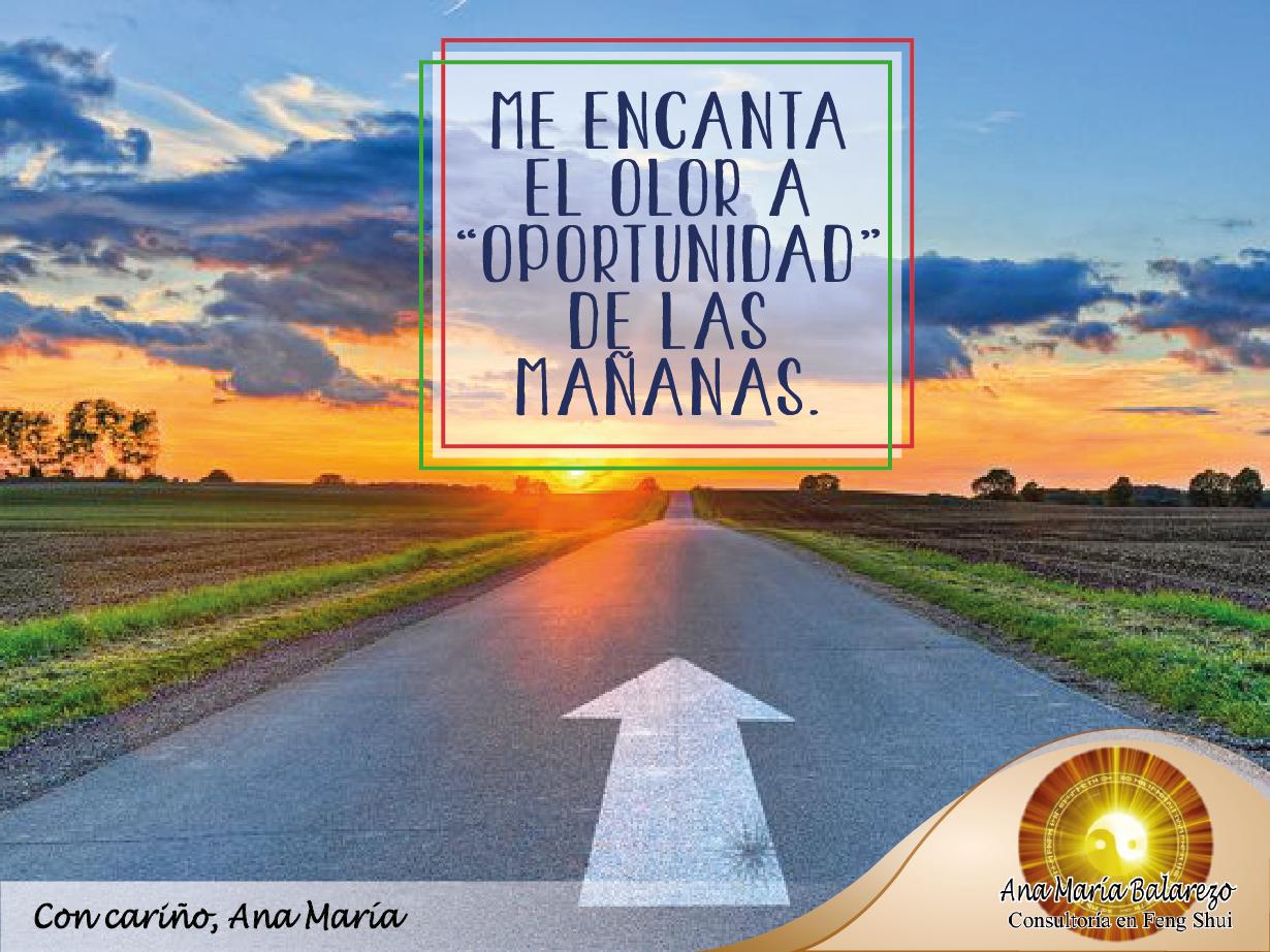 """#FraseAnaMaría: Me encanta el olor a """"Oportunidad"""" de las mañanas. Empecemos esta semana con mente optimista y energía positiva para la realización de todas nuestras metas."""