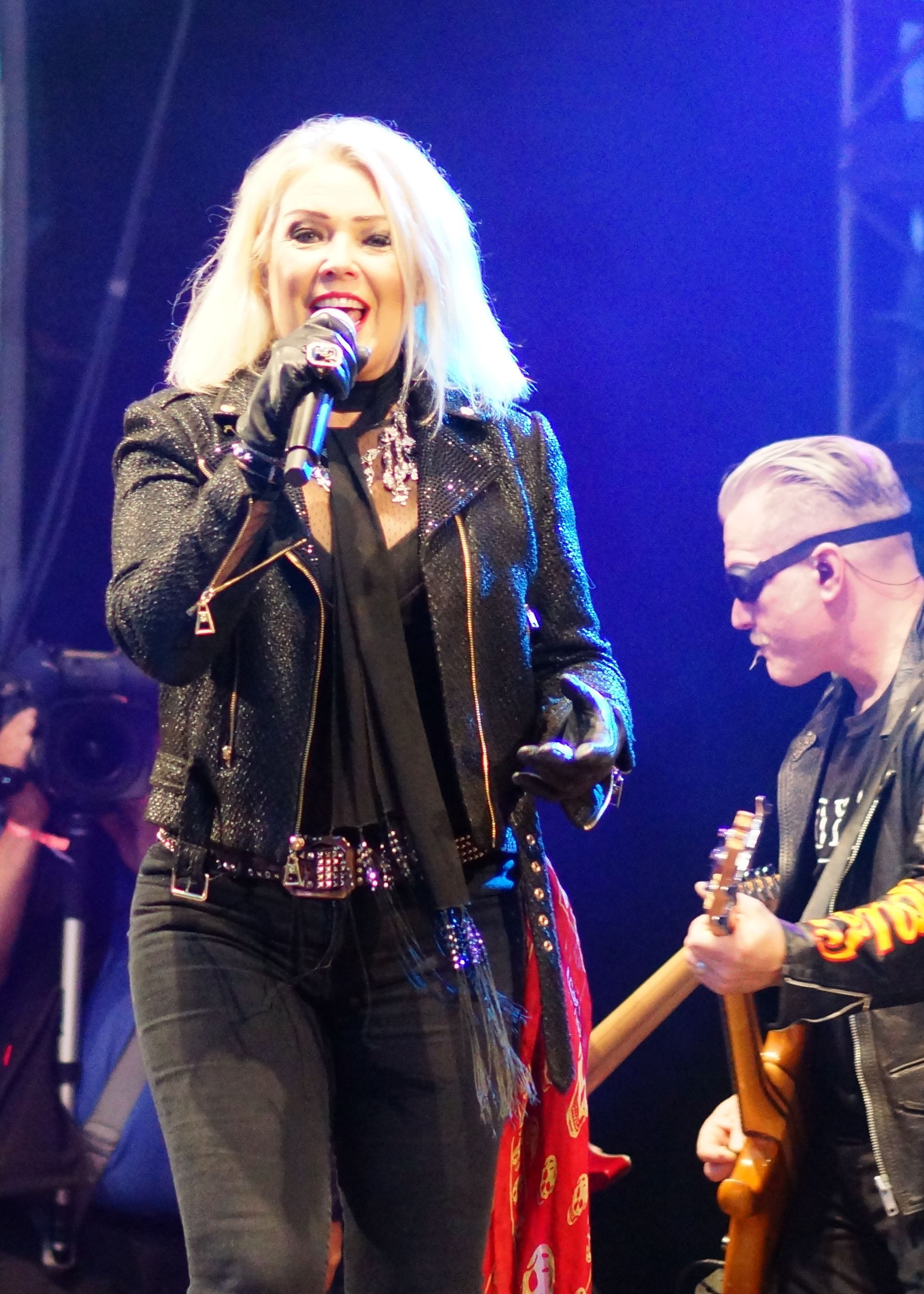 Kim Wilde on stage at the NDR Sommertour in Wilhelmshaven, Germany 07-30-2017
