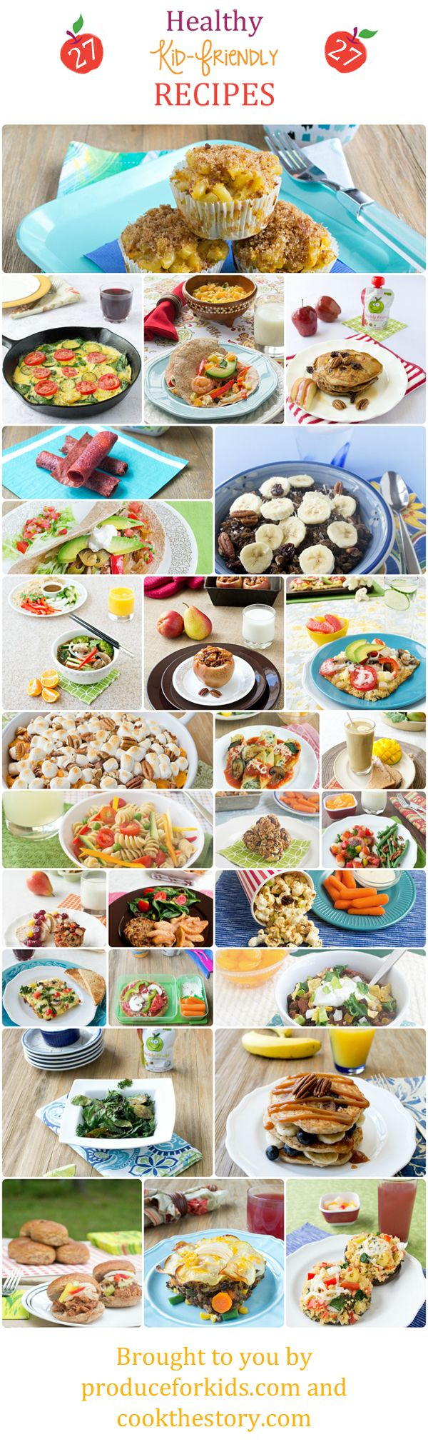 27 Healthy Recipes for Kids: Breakfasts, Lunches, Dinners and Snacks #healthy #kids #parenting