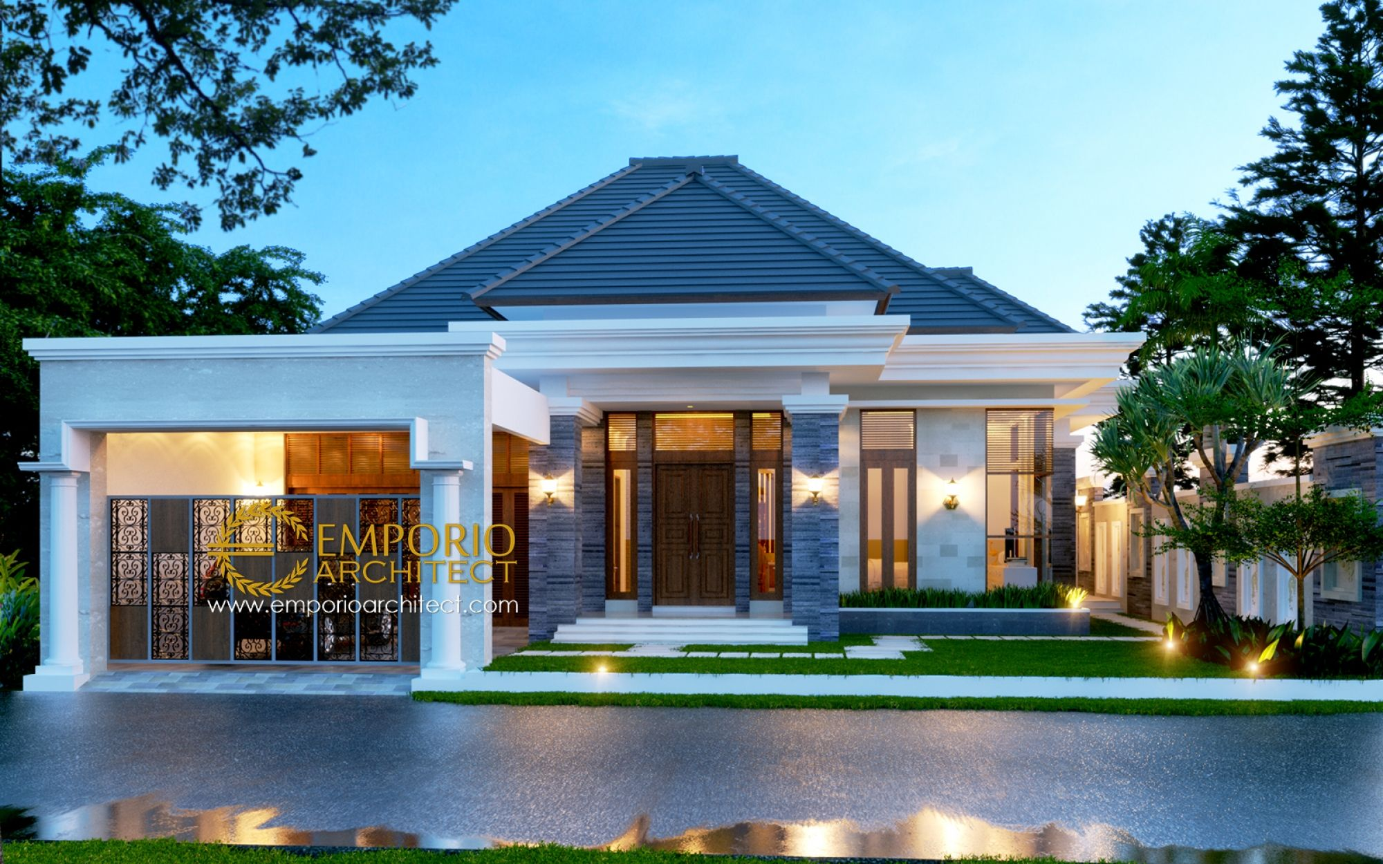 Jasa Arsitek Medan Desain Rumah Bapak Hilman Lubis Jasa Arsitek Desain Rumah Berkualitas Desain Villa Bali Modern Tropis Rumah Arsitektur Arsitek Arsitektur