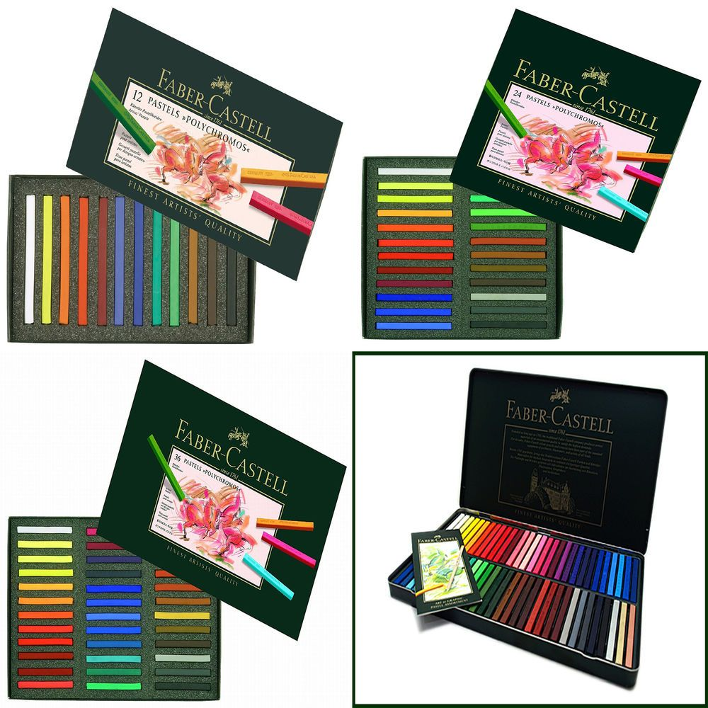 Details About Faber Castell Polychromos Pastel Crayon 12 24 36