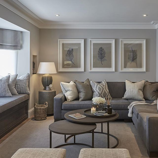 Lovely CONTEMPORARY LIVING ROOM | Grey Living Room | Bocadolobo.com/  #contemporarydesign #contemporarydecor