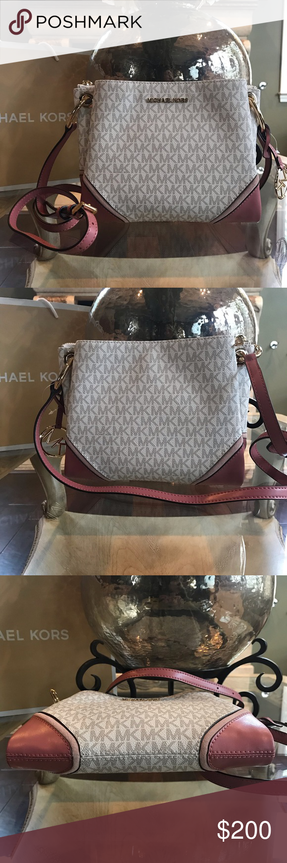 8d364f5045a6 Michael Kors Nicole Triple Compartment Crossbody So in Love with this  crossbody bag! Beautiful MK