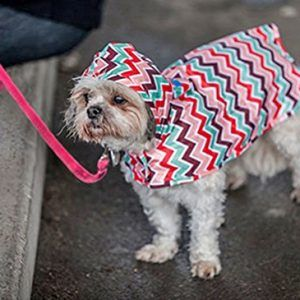 Rc Pet Products Packable Dog Rain Poncho Sweet Sorbet Rain Poncho Dog Raincoat Dog Clothes