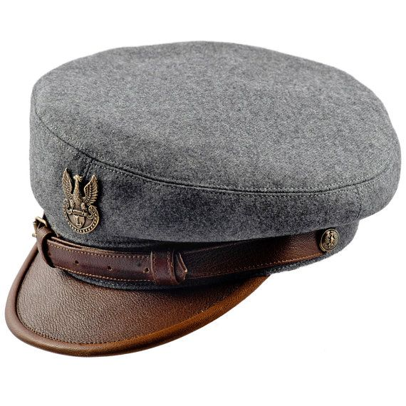Legion Maciejowka Replica Wool Cloth Leather Bill Jozef Pilsudski Polish Rifleman Historical Cap Collectible Headgear Large Size Gray Brown In 2021 Hats For Men Leather Black Visor
