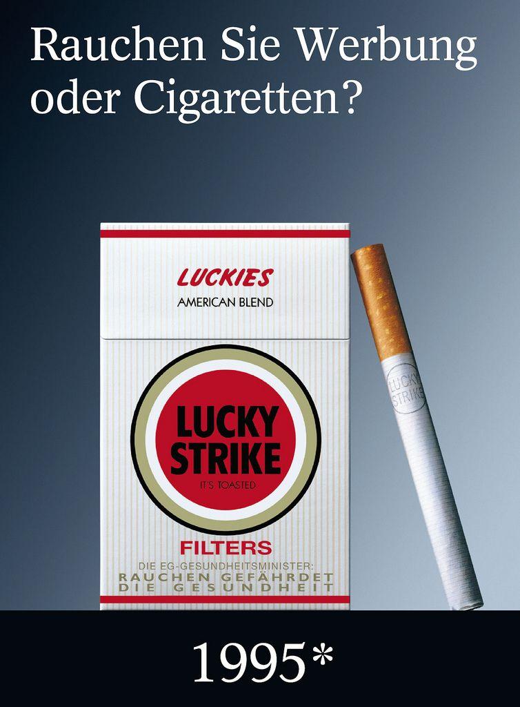 Alle Grossen Rauchen Sie Werbung Oder Cigaretten Lucky Strike Plakat Werbung 2005 Fli Vintage Advertisement Vintage Advertisements British American Tobacco