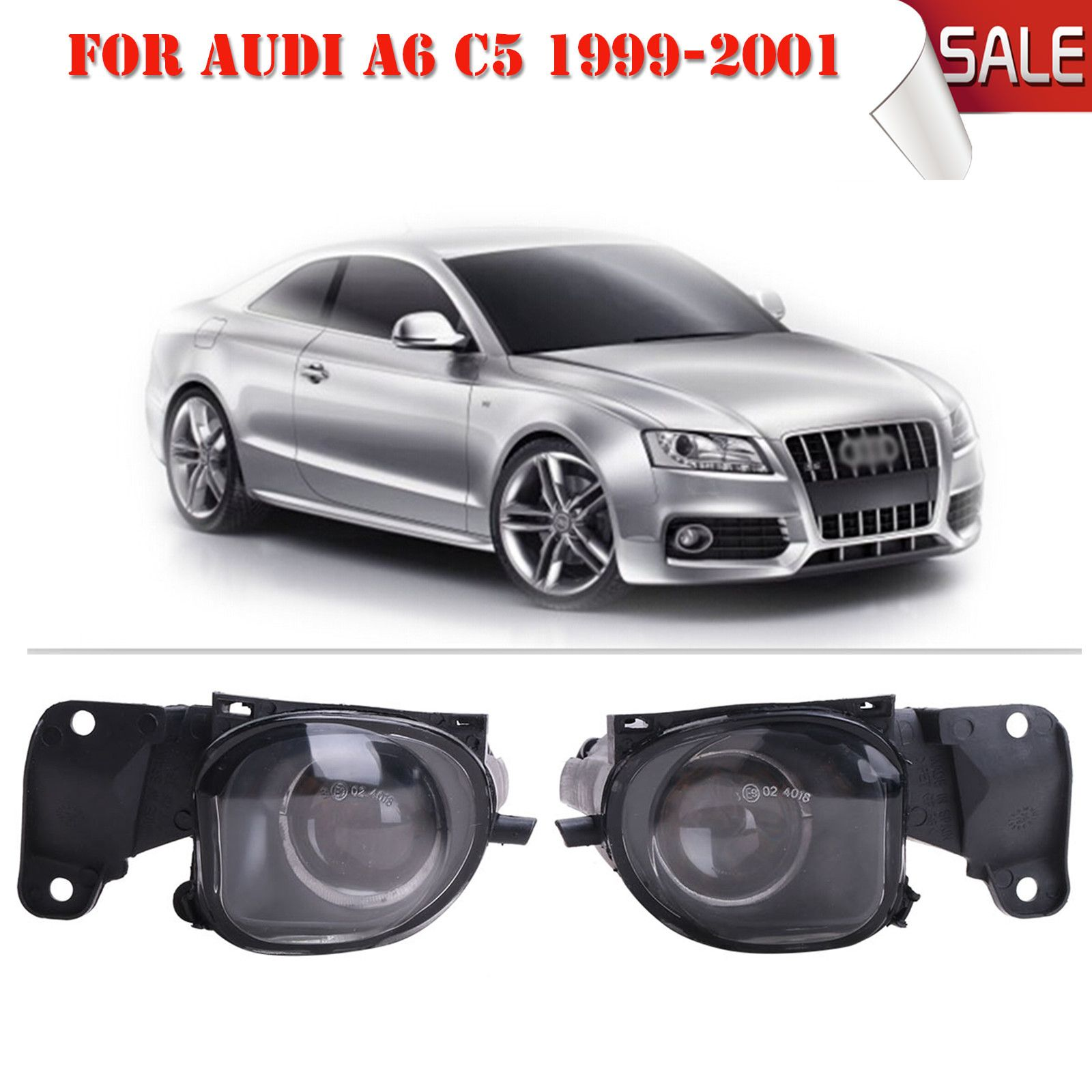 small resolution of oem 4b3941699a 2pcs for audi a6 s6 c5 4 2l 1999 2001 front bumper fog lights fog lamps with bulb h3 c 5