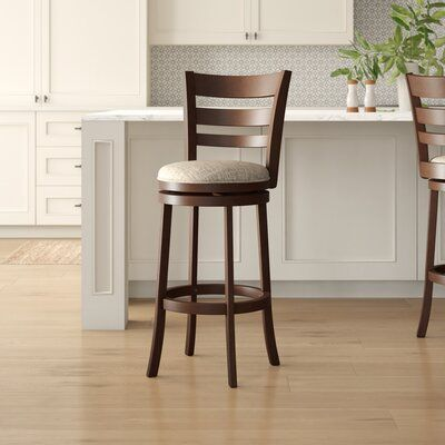 Andover Mills Dupont 29 Swivel Bar Stool Upholstery Gray Seat