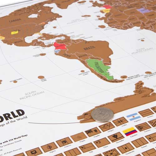 Scratch Off World Map Travel Tracker Map By Travelcorner On Etsy - Us map travel tracker