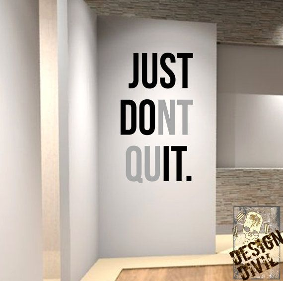Just Dont Quit Wall Fitness Decal Quote For Gym Kettlebell - Portal 2 wall decalsbest wall decals images on pinterest