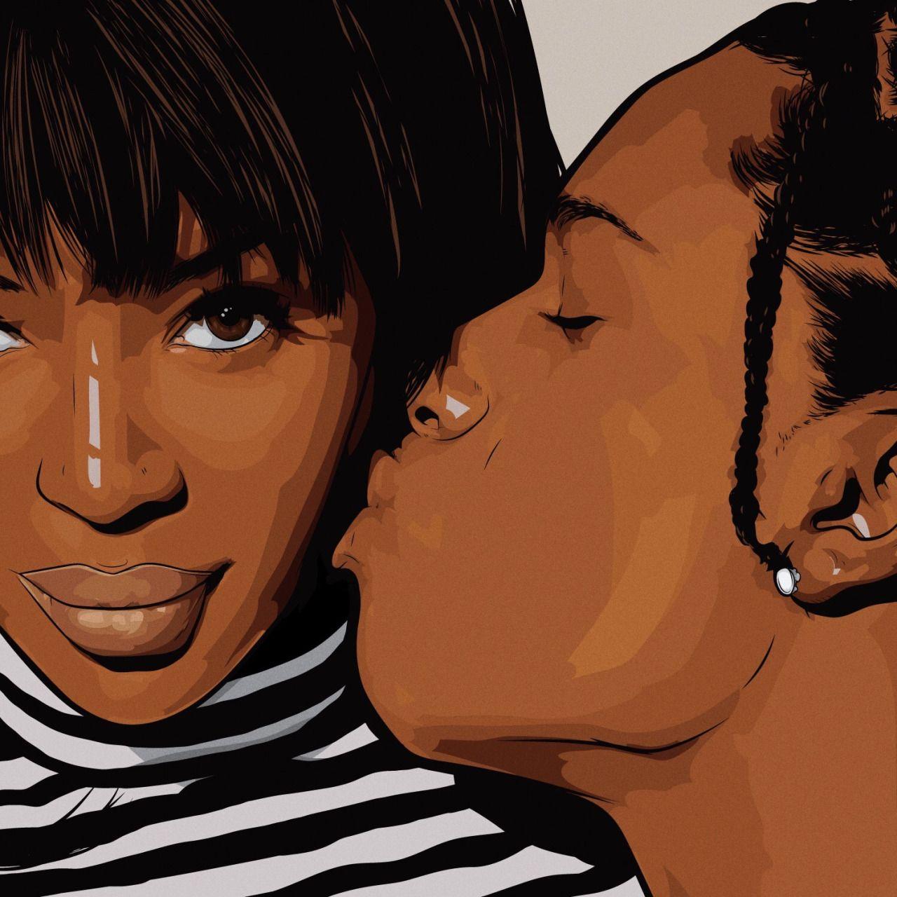 Naomi Campbell & ASAP Rocky | Art by Samona Lena info ...