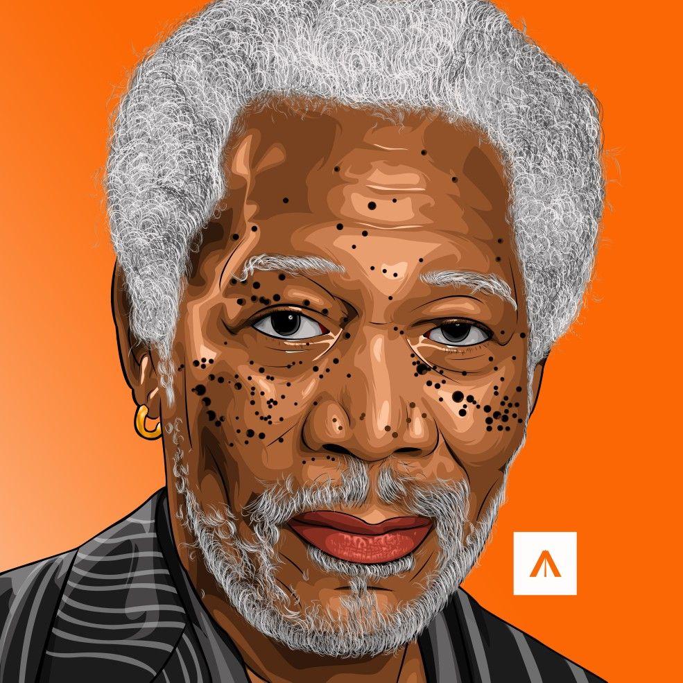 Morgan Freeman Vector Art Art Drawings
