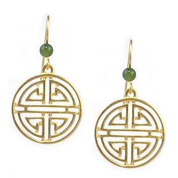 Shou Symbol For Long Life With Jade Earrings Museum Store Company