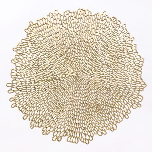 Food Network Bloom Cutout Placemat Gold Vinyl Gold Placemats Placemats
