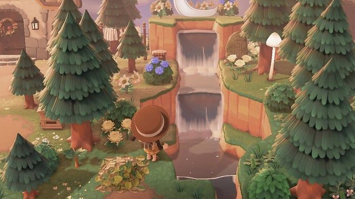 New Horizons Island Designs On Instagram Waterfall Design Credits To Pastelazaleas On Tumblr Acnh Designs Blog