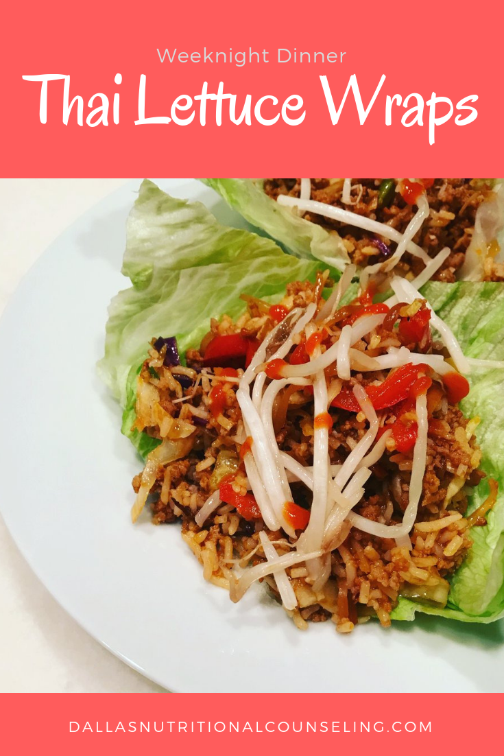 Week Night Dinner - Thai Lettuce Wraps images