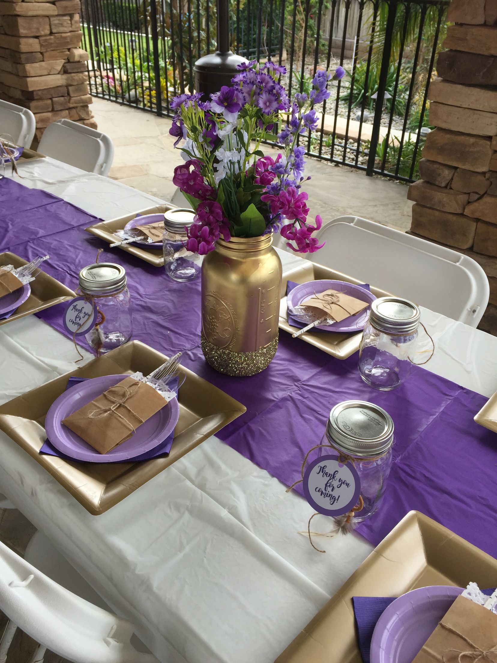 Purple Tribal Baby Shower On A Budget