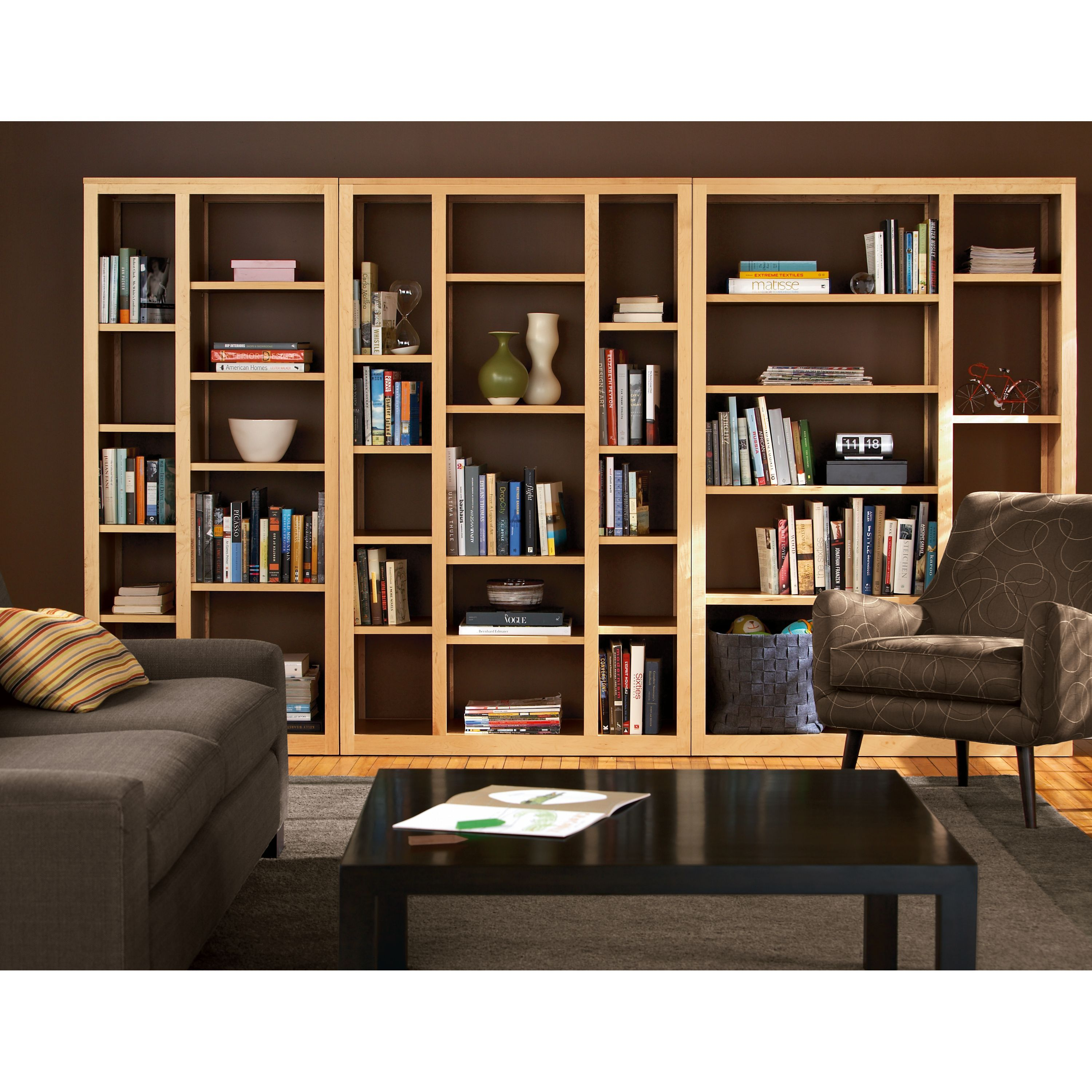 Woodwind 72h Open Back Bookcases