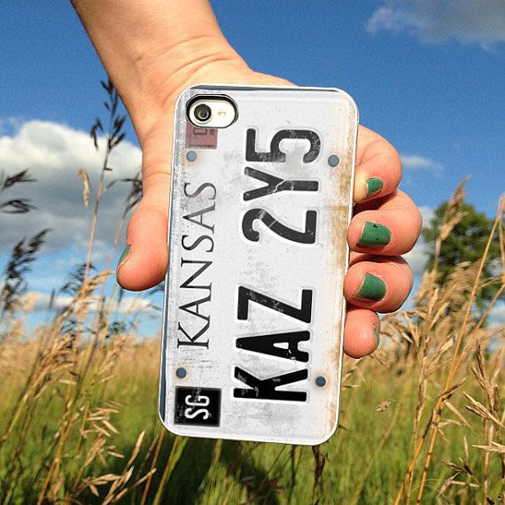 License plate Supernatural design for iPhone 4/4s, iPhone 5/5s/5c or Samsung Galaxy S3/S4 Case on Etsy, $14.89