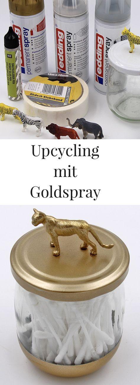 DIY Upcycling Idee u2013 Gläser mit Deckel verschönern Upcycling - deko für badezimmer