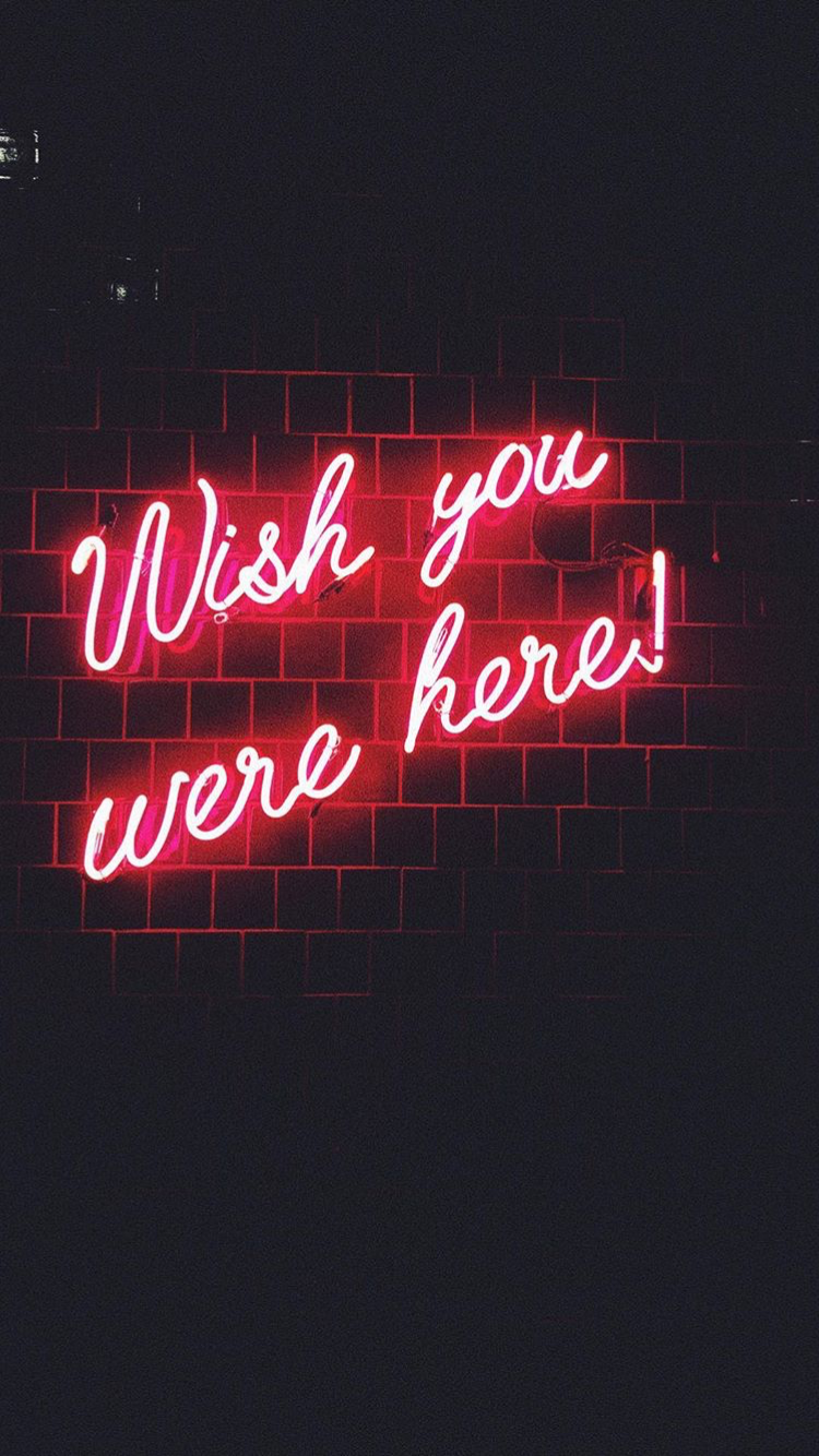 Wish You Were Here Neon Sign Neon Signs Pink Floyd Wallpaper