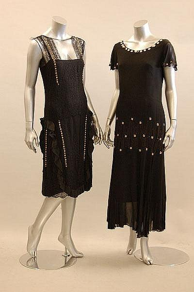 Two late 1920s dresses via Kerry Taylor Auctions.