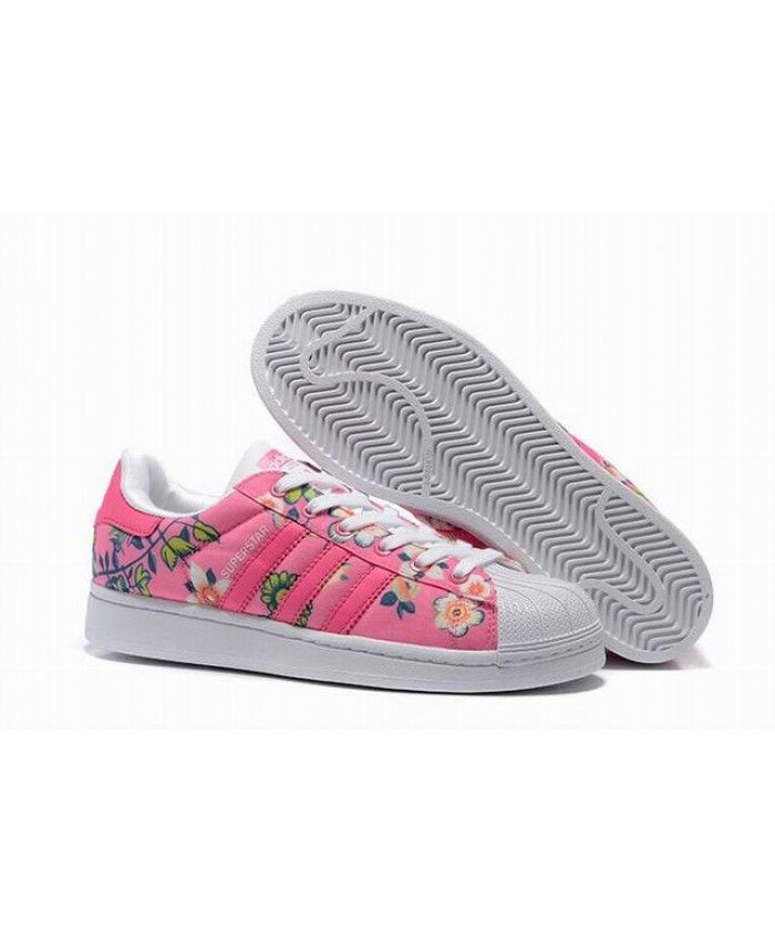 adidas superstar floral pink