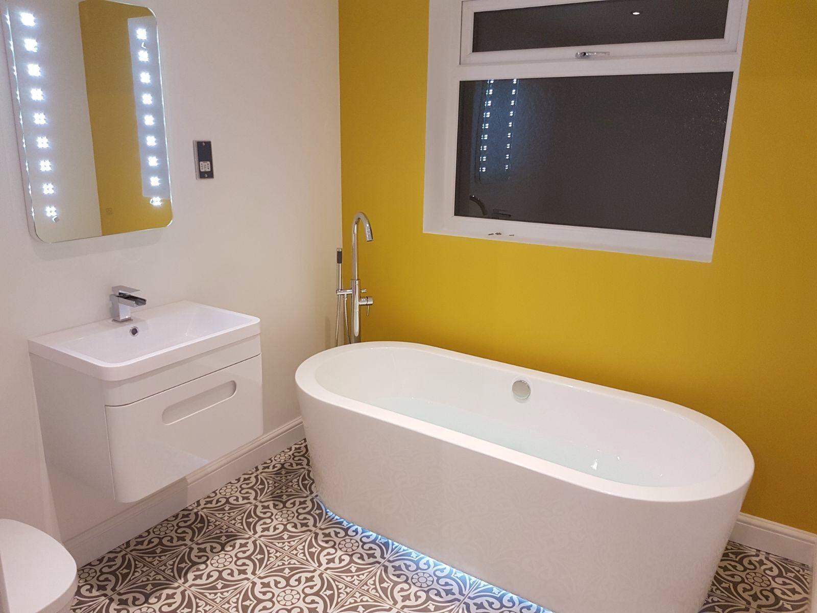 Under bath lighting   Bathroom   Pinterest   Bath light, Bath and Lights