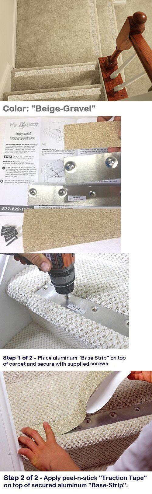 X5 Pcs Non Slip Tread Nosing For Carpet Stairs No Slip Strips | Carpet Stair No Slip Nosing | Stair Tread Nosing | Strips | Non Skid | Laminate Flooring | Gravel