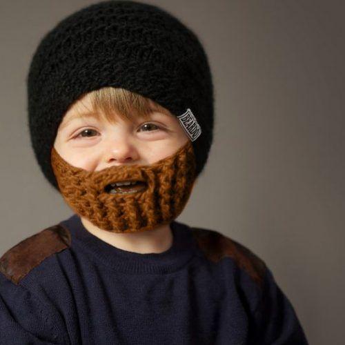 Der Winter kommt, eure kleinen Männer brauchen einen Winterbart um ...