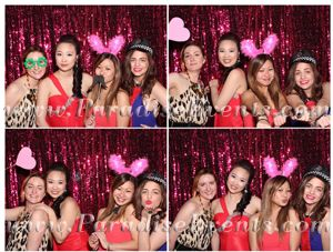 #WeddingPhotobooth with Purple #Backdrop and fun #props at Fairmont Pacific Rim Vancouver by http://www.paradiseevents.com/photo-booth-rental/