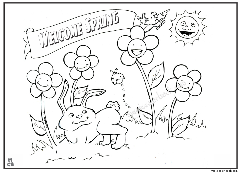 Spring Coloring Pages Summer coloring pages
