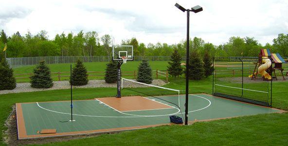 backyard basketball half-court dimensions | Backyard ...