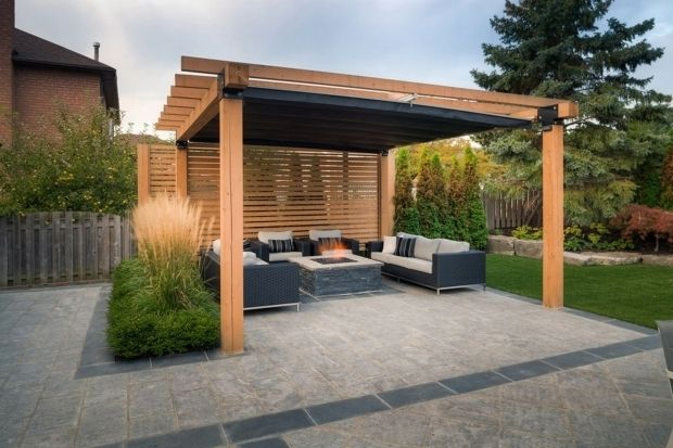Outstanding Pergola With Retractable Shade Canopy