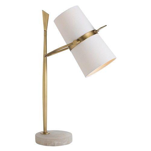 Arteriors Yasmin Antique Brass Table Lamp @Zinc_door #zincdoor #lamp #lighting #modern