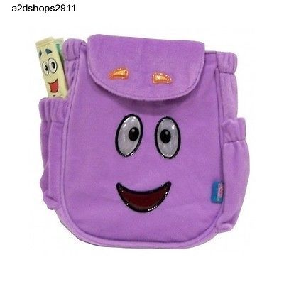 0dbd96609de6 Purple Plush Fabric Dora the Explorer Toy Adventure Backpack Rescue Bag  w Map