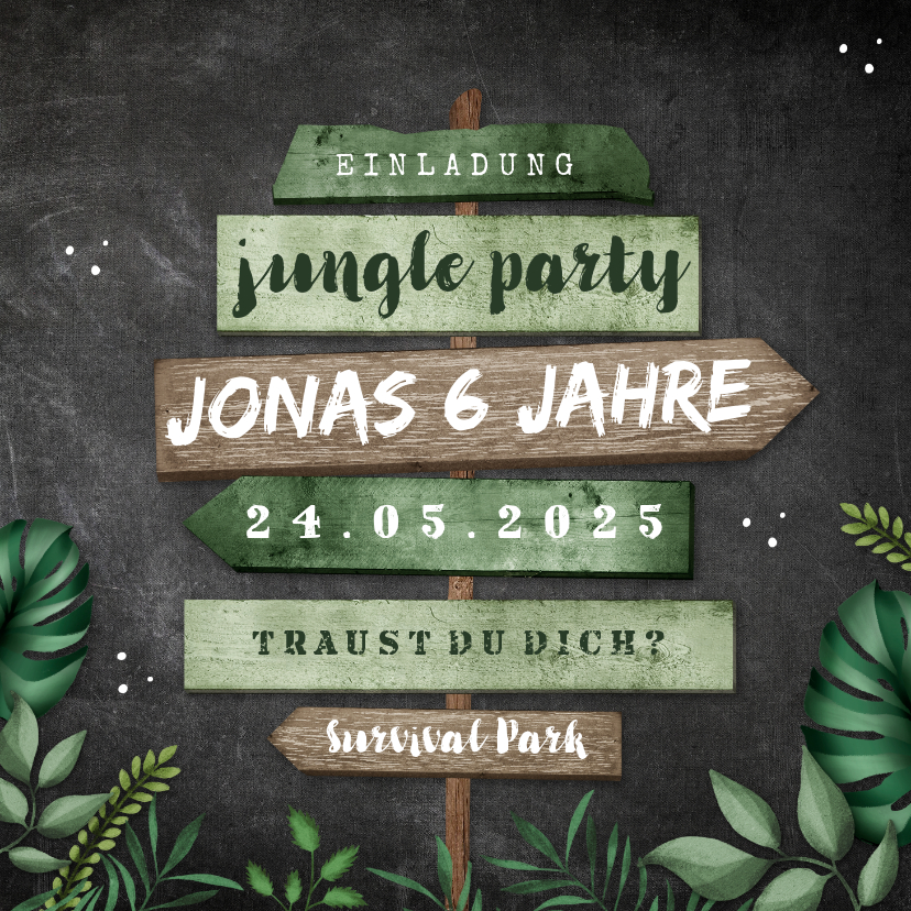 Photo of Invitation kids birthday jungle party – kids birthday #kids birthday # …
