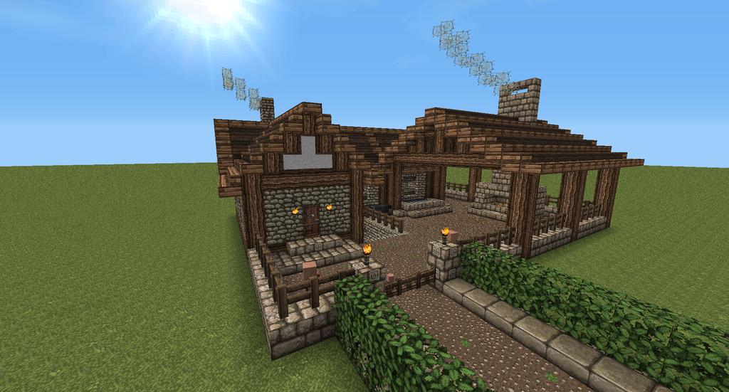 Blacksmith By Pugwis On Deviantart Minecraft Medieval Minecraft Farm Minecraft Castle