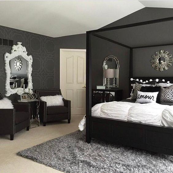 ᒪoᑌiᔕe Black Bedroom Decor Black Bedroom Furniture
