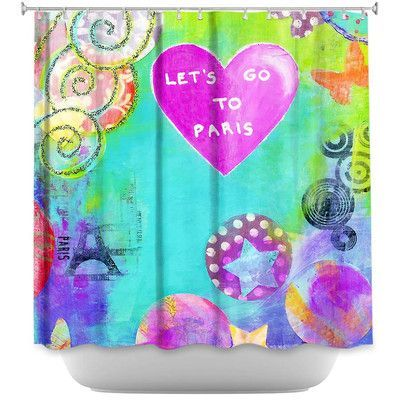 DiaNocheDesigns Lets Go to Paris Shower Curtain