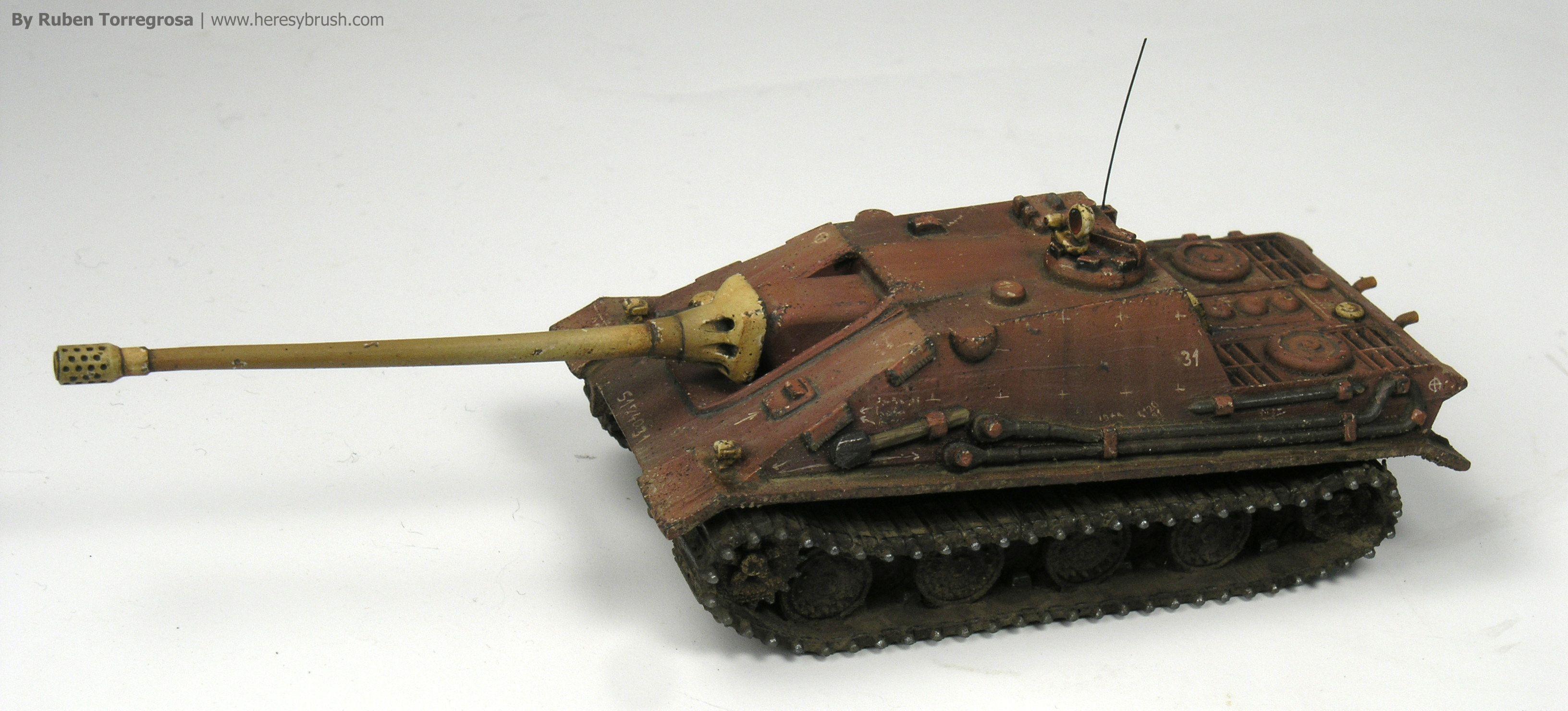 1946 Modelcollect 1:72 German Segunda Guerra Mundial E-100 Flakpanzer con tanque de modelo Flak 88