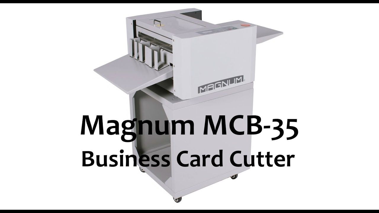 Magnum Mcb 35 Is A Heavy Duty Accurate Businesscardcutter Sheets Of Card Are Hand Fed Into The Machine To Produc Business Card Cutter Business Cards Magnum