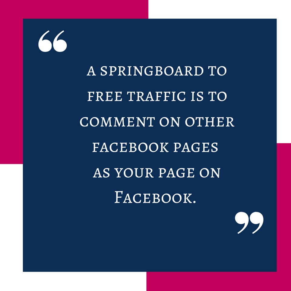 Comment on other business pages as your fan page for free traffic. #SocialMediaTip #WeblinkIndiaTip