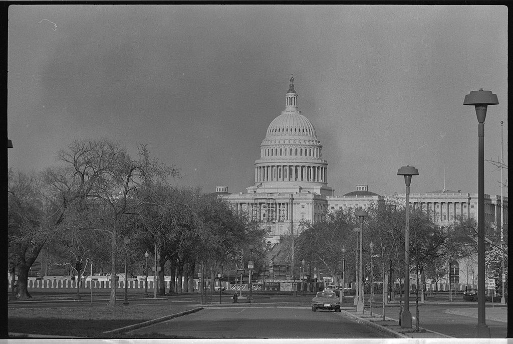 Smoke Rises Near U S Capitol During Riot 1968 Mst Library