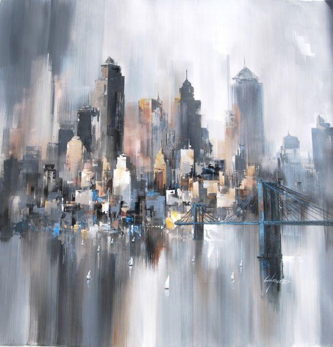 Wilfred new york peinture cuadros de nueva york - Tableau paris londres new york ...