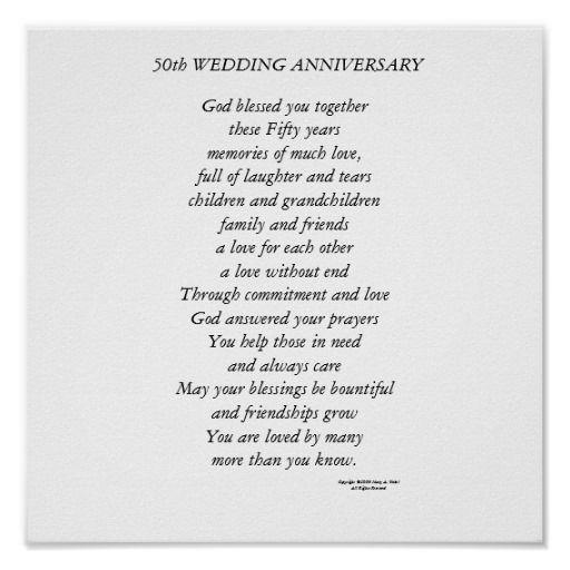 50th Wedding Anniversary Poster Zazzle Com Wedding Anniversary Poems Wedding Anniversary Quotes 50th Anniversary Quotes