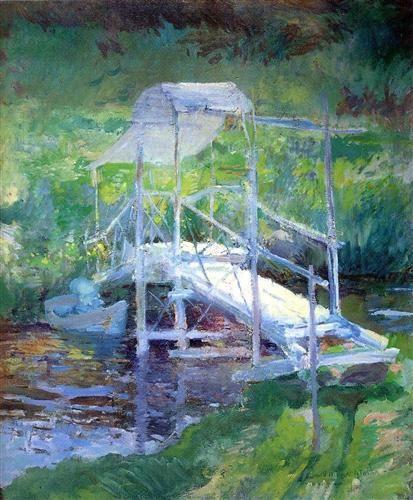 The White Bridge - John Henry Twachtman