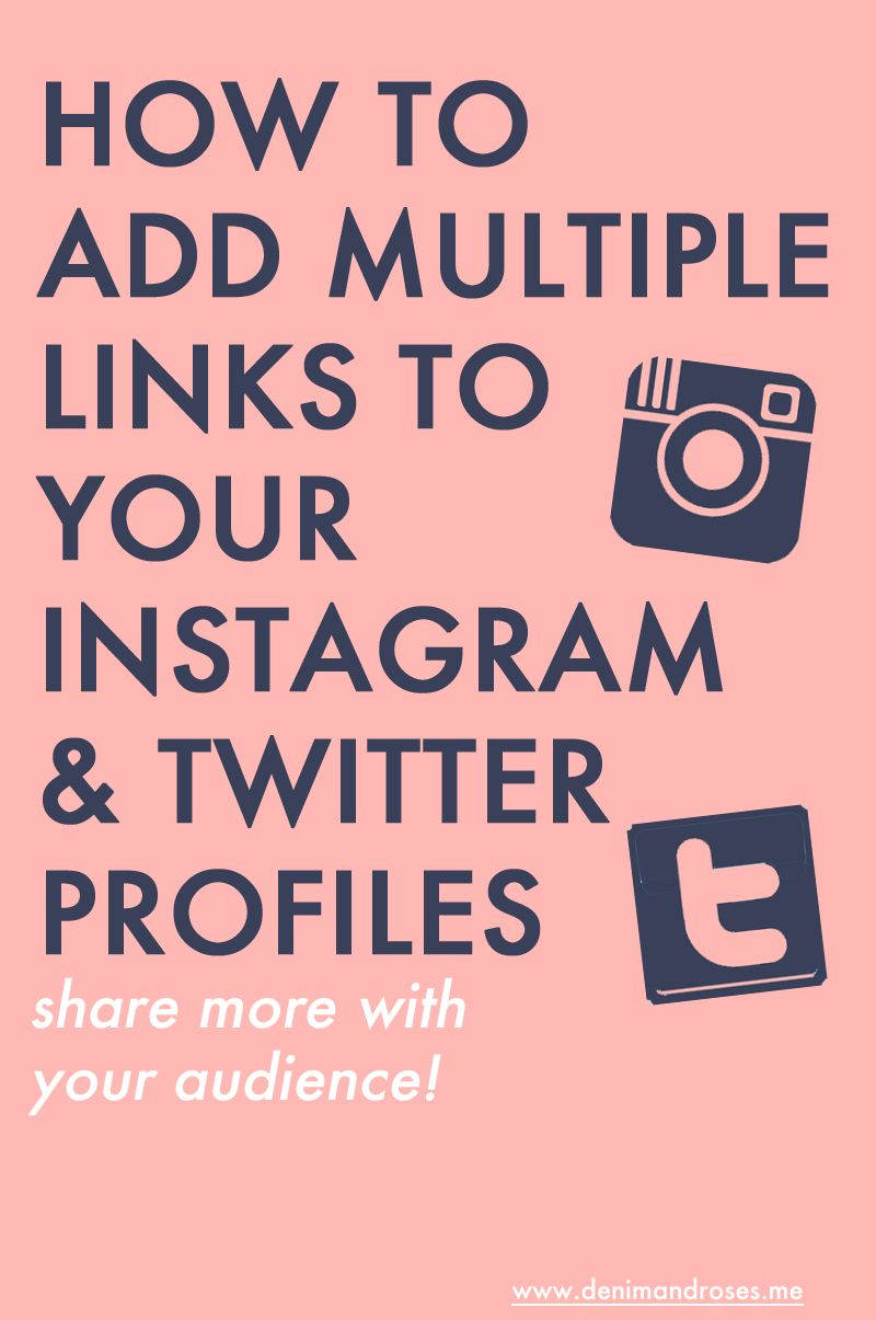How to add multiple links to your instagram and twitter profile how to add multiple links to your instagram and twitter profile share more with your audience ccuart Choice Image